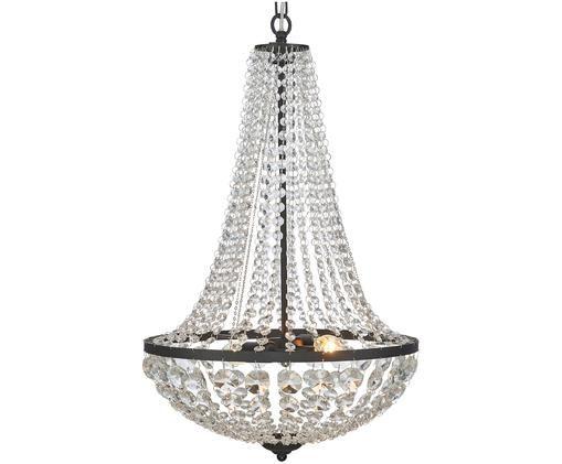 Lámpara de araña Gränsö, Negro, transparente