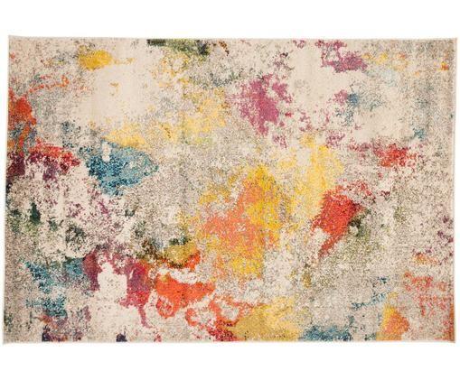 Design vloerkleed Celestial in kleur, Bovenzijde: polypropyleen, Onderzijde: jute, Multicolour, 120 x 180 cm