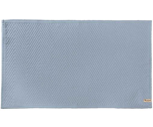 Tappetino da bagno con motivo a scaglie Soft Cotton, Cotone, Blu, Larg. 60 x Lung. 100 cm