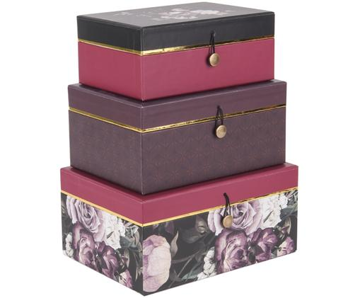 Geschenkboxen-Set Flowers, 3-tlg.