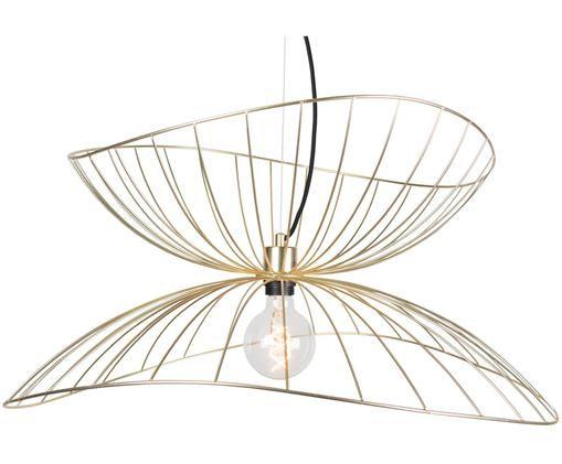 Design-Pendelleuchte Ray, Messing, Lampenschirm: Metall, vermessingt und g, Baldachin: Metall, lackiert, Messing, matt, Ø 70 x H 28 cm