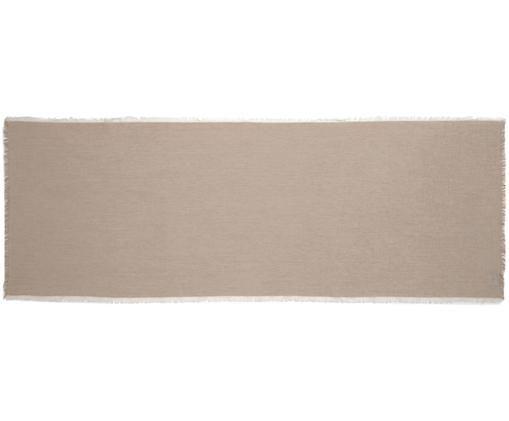 Runner da tavolo Layer, Cotone, Beige, Larg. 50 x Lung. 150 cm