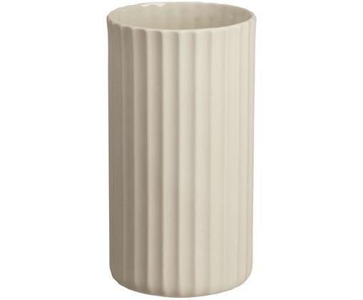Ręcznie wykonany wazon Yoko, Porcelana, Beżowy, Ø 9 x W 16 cm