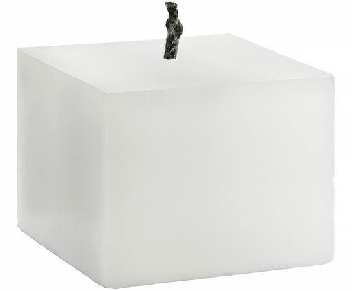 Outdoorkerze Würfel, Wachs: Weiß Docht: Schwarz, 18 x 13 cm