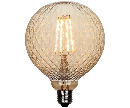 XL LED-Leuchtmittel Facet (E27 / 2Watt), Leuchtmittelschirm: Glas, Leuchtmittelfassung: Aluminium, Beige, Aluminium, Ø 13 x H 19 cm