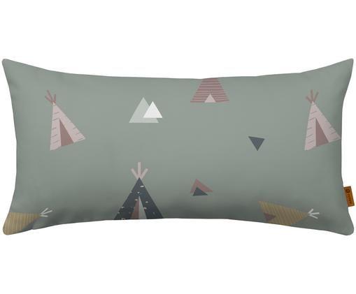 Kissen Teepee, mit Inlett, Bezug: Baumwolle, Grün, Mehrfarbig, 30 x 60 cm