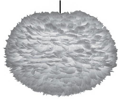Lámpara de techo de plumas Eos, Gris claro
