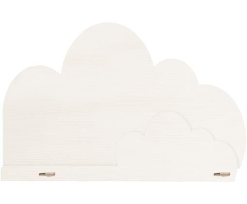 Półka ścienna Cloud, Sklejka powlekana, Biały, S 45 x W 30 cm