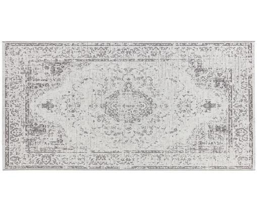 Alfombra de interior/exterior Cenon, estilo vintage, Polipropileno, Crema, gris, An 80 x L 150 cm (Tamaño XS)