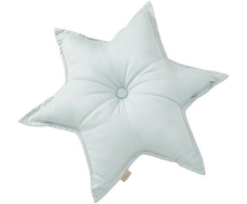 Cuscino a stella in cotone organico Star, Azzurro, Larg. 45 x Lung. 45 cm