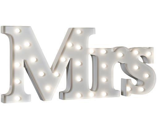 Lampa dekoracyjna LED Mrs, Metal malowany proszkowo, Biały, S 71 x W 31 cm