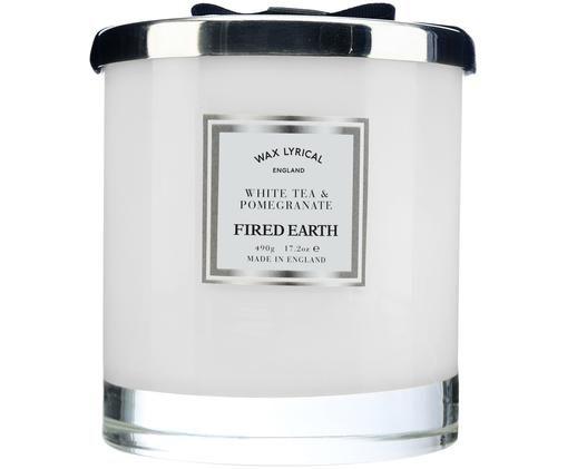 Bougie parfumée Fired Earth (thé blanc et grenade), Blanc