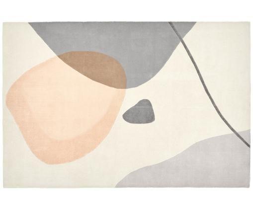 Ręcznie tuftowany dywan z wełny Luke, Beżowy, szary, morelowy, 200 x 300 cm (Rozmiar L)