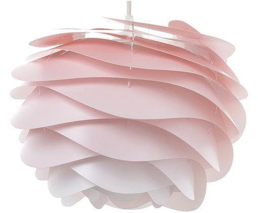 Lampada a sospensione Carmina Mini, Polipropilene, policarbonati, Paralume: rosa Pendolo del cavo: nero, Ø 32 x Alt. 22 cm