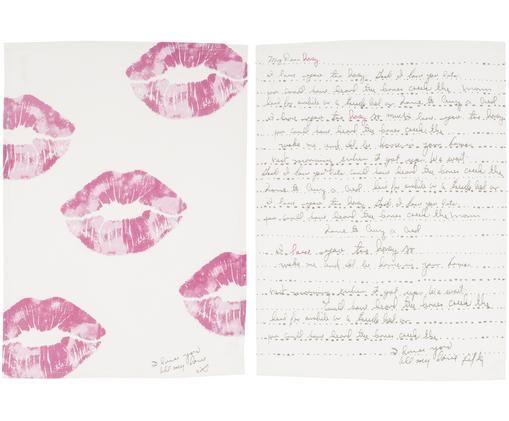 Set strofinacci Embrace, 2 pz., Color crema, rosa, antracite