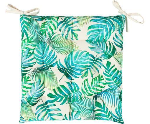 Coussin de chaise d'extérieur imprimé feuilles Madeira