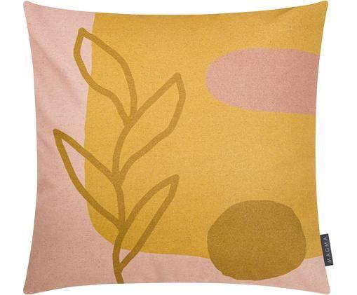 Funda de cojín, caras distintas Images, 85%algodón, 15%lino, Amarillo, rosa, beige, An 50 x L 50 cm