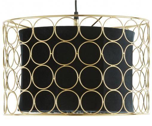Lampa wisząca Ring, Odcienie mosiądzu, czarny, Ø 40 x W 26 cm