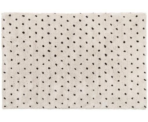 Alfombra artesanal Ayana, Parte superior: 100%poliéster, Reverso: 100%algodón, Beige, negro, An 200 x L 300 cm (Tamaño L)
