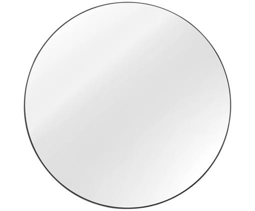 Espejo de pared redondo Ada, Espejo: cristal, Parte trasera: fibra de densidad media, Gris oscuro, Ø 120 cm