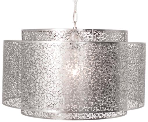 Lampa wisząca Mesh, Nikiel, Odcienie niklu, Ø 48 x W 32 cm