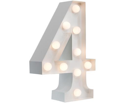 Lampa dekoracyjna LED Number 4, Biały