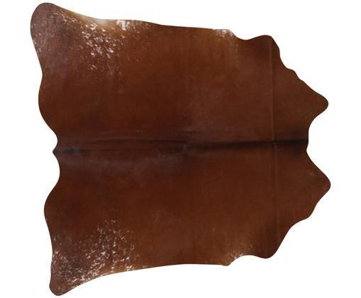 Kuhfell-Teppich Jura in Braun und Weiß, Kuhfell, Braun, Beige, Kuhfell-Unikat 983