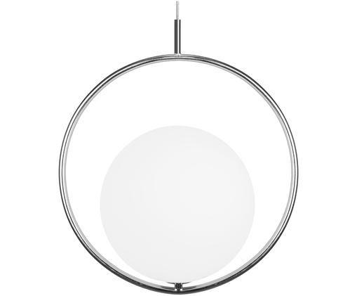 Design-Pendelleuchte Saint, Lampenschirm: Opalglas, Chrom, Ø 40 cm