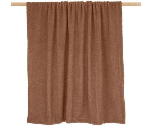 Teddy-Plaid Mille, Vorderseite: 100% Polyester (Teddyfell, Rückseite: 100% Polyester, Braun, 180 x 240 cm