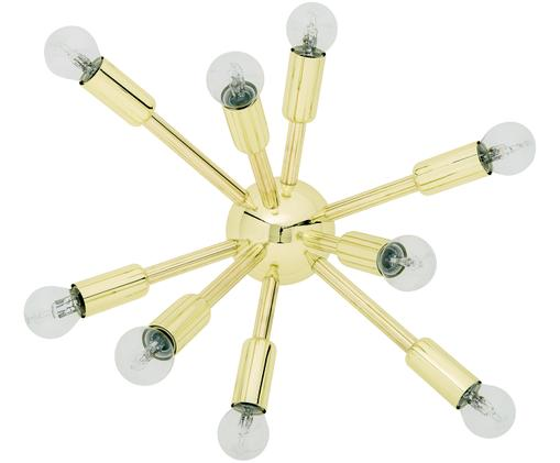Wand- en plafondlamp Spike goudkleurig, Baldakijn: metaal, Lampenkap: metaal, Goudkleurig, 42 x 30 cm