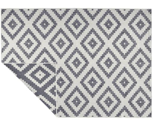 Vnitřní a venkovní oboustranný koberec Malta, Šedá, odstíny krémové