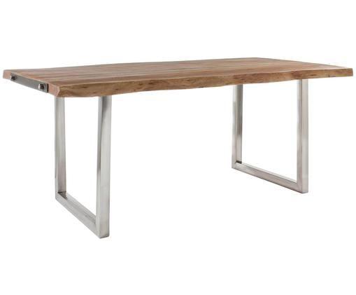 Stół do jadalni Osbert z oflisem, Drewno akacjowe, stal szlachetna