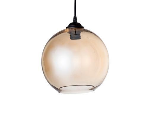 Kugel-Pendelleuchte Johanna aus Glas, Lampenschirm: Glas, Baldachin: Metall, lackiert, Braun, Ø 25 x H 22 cm