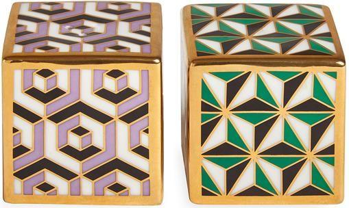 Designer Salz- und Pfefferstreuer Versailles, vergoldet, 2er-Set