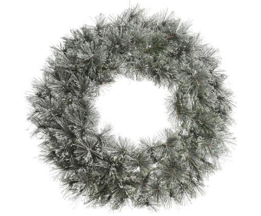 Corona navideña Carol, Verde, blanco