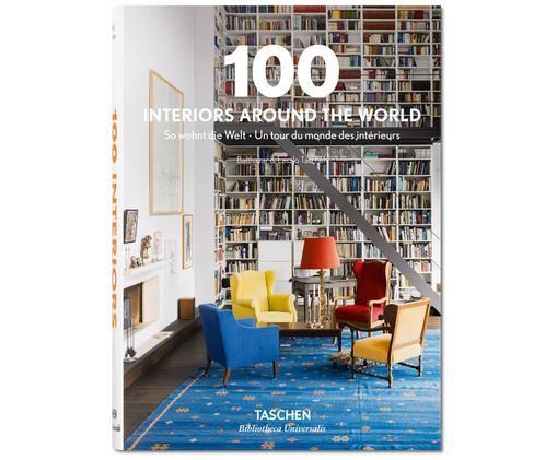 Buch 100 Interiors Around the World, Mehrfarbig