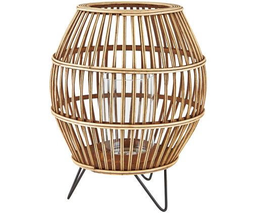 Portacandela Lara, Legno di bambù trasparente, nero