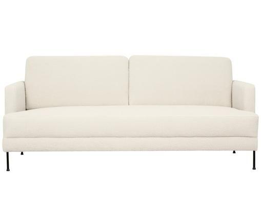 Teddy-Sofa Fluente (3-Sitzer), Cremeweiß, Teddy