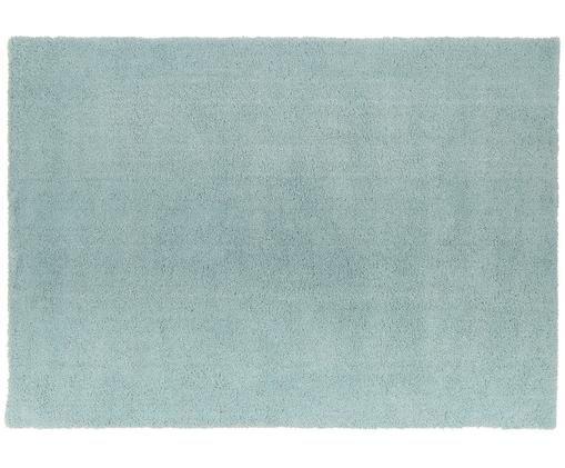 Tappeto peloso morbido verde menta Leighton, Vello: 100% poliestere (microfib, Retro: 100% poliestere, Verde menta, Larg. 160 x Lung. 230 cm (taglia M)
