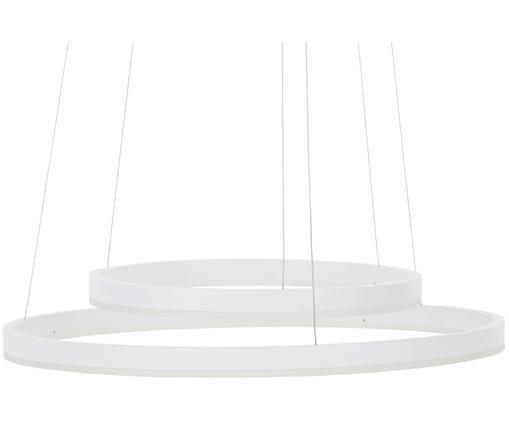 Lampa wisząca LED Conny, Biały, matowy kabel: odcienie srebrnego, ∅ 60 x W 140 cm