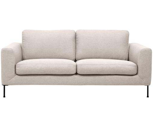 Bank Cucita (3-zits), Bekleding: geweven stof (polyester), Frame: massief grenenhout, Poten: gelakt metaal, Beige, B 187 x D 94 cm
