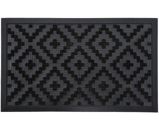 Felpudo Gaelle, Plástico (PVC), Negro, An 45 x L 75 cm