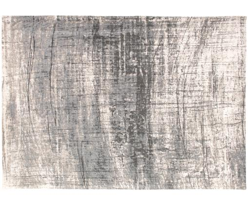 Teppich Griff, Vorderseite: 85%Baumwolle, 15%hochgl, Webart: Jacquard, Rückseite: Baumwollgemisch, latexbes, Grautöne, Weiß, B 140 x L 200 cm (Größe S)