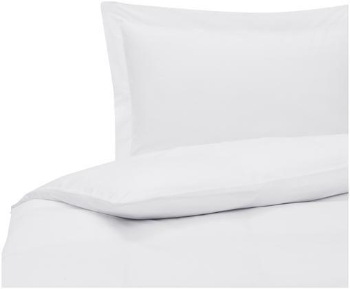 Parure copripiumino in raso di cotone Premium, Tessuto: raso, leggermente lucido, Bianco, 155 x 200 cm