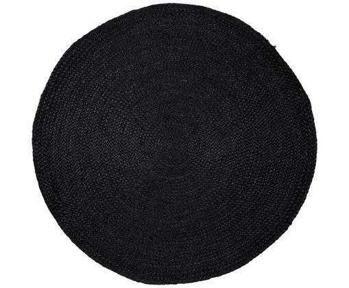 Runder Jute-Teppich Sheela, handgefertigt