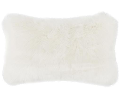 Poszewka na poduszkę ze sztucznego futra Mathilde, gładka, Kremowy, S 30 x D 50 cm