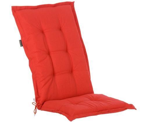 Cuscino sedia con schienale Panama, Rivestimento: 50% cotone, 50% poliester, Rosso, Larg. 50 x Lung. 123 cm