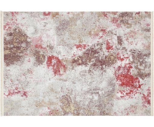Teppich Mago im Artsy Style, 50% Polyester, 50% Baumwolle, Rottöne, Beige, B 160 x L 230 cm (Größe M)