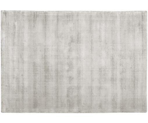 Tappeto in viscosa tessuto a mano Jane, Vello: 100% viscosa, Retro: 100% cotone, Grigio chiaro-beige, Larg.160 x Lung. 230 cm  (taglia M)