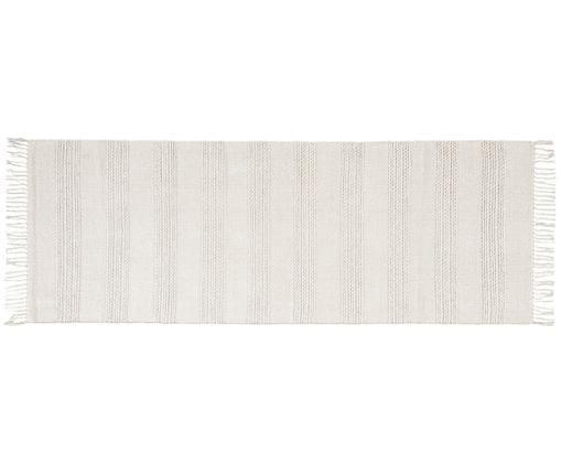 Läufer Vanya, Baumwolle, Weiß, 70 x 200 cm